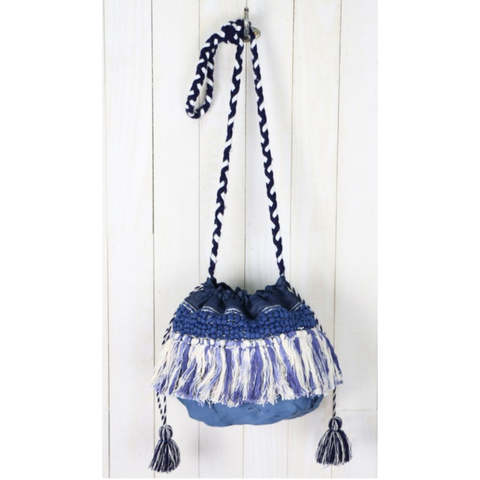 Denim Details Bucket Bag