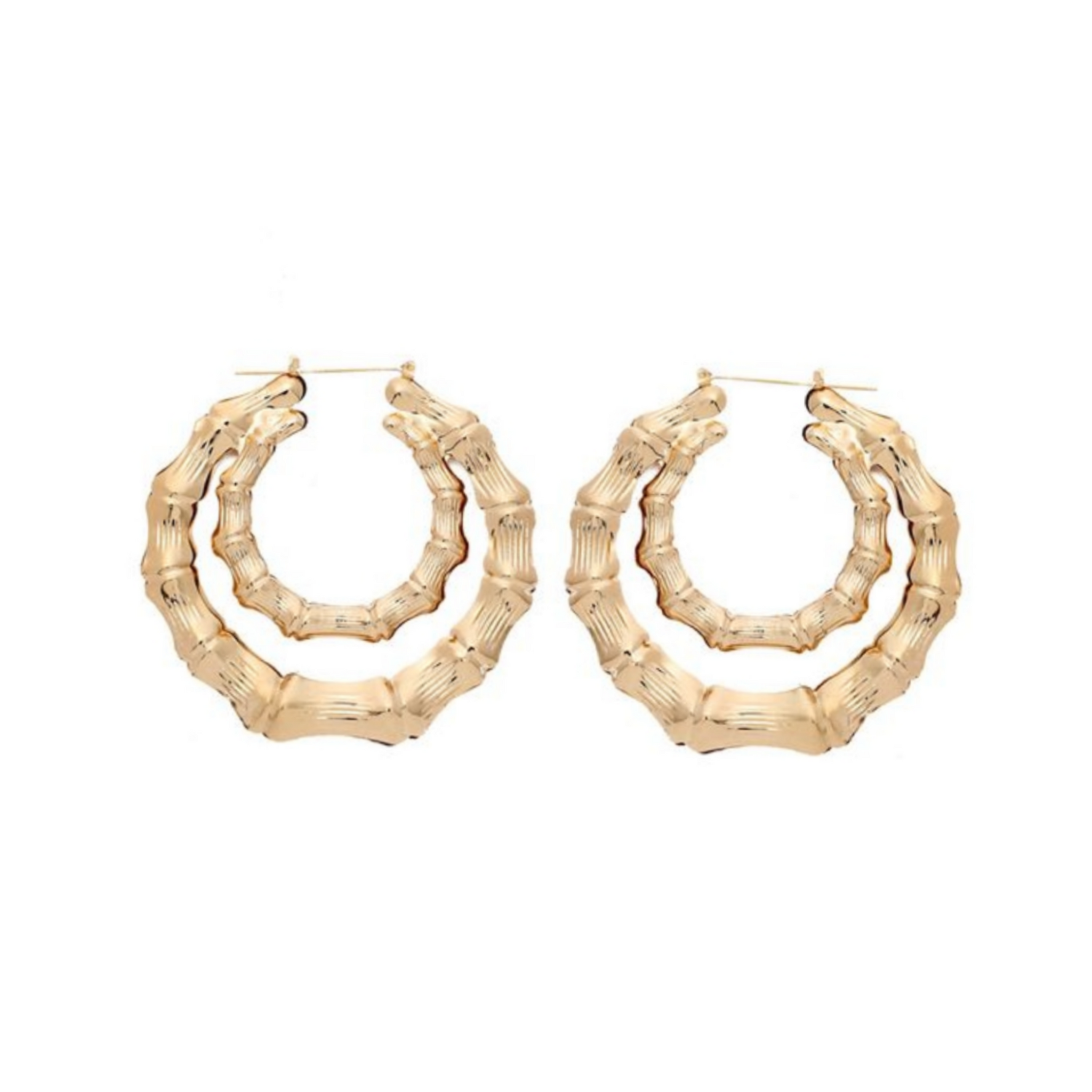 Double Circle Bamboo Hoops