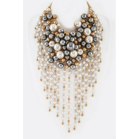 Pearl Confetti Statement Necklace