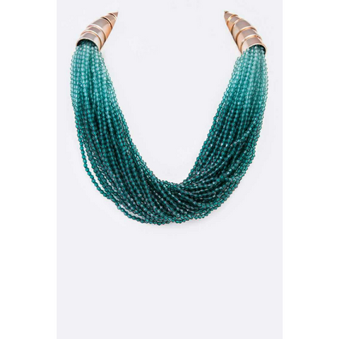 Ombre Beaded Statement Necklace
