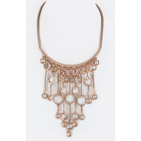 Fringe Hoops Statement Necklace