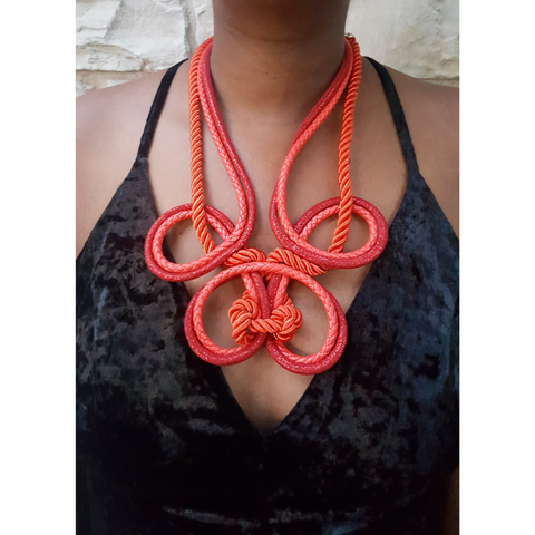Knotted Ropes Statement  Necklace
