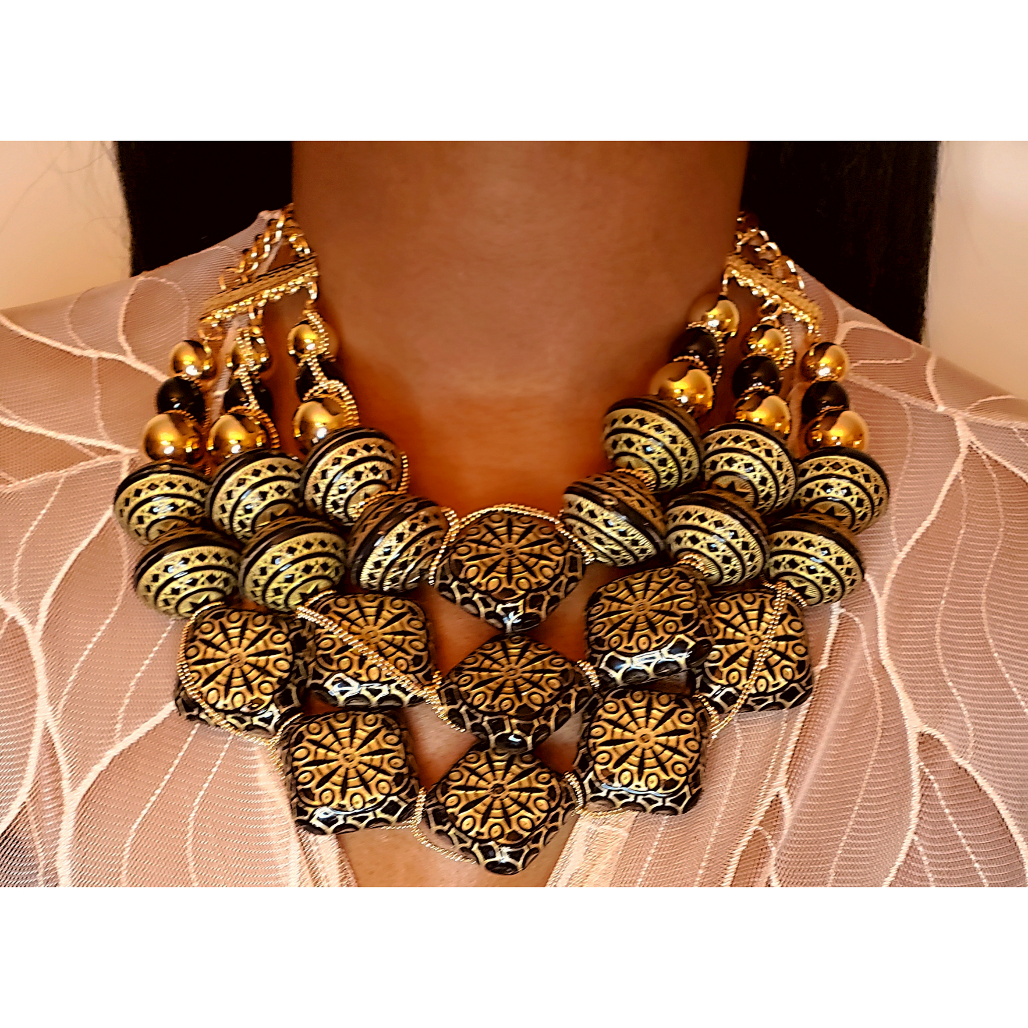 Indian Flair Statement Necklace