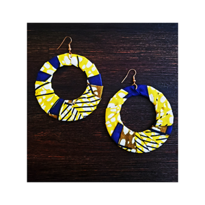 African Print Fabric Earrings - Nigeria (NEW)