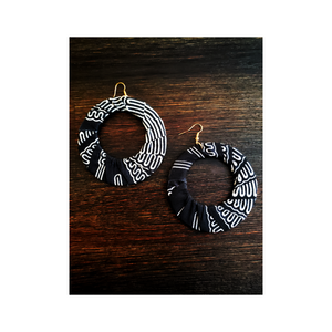 African Print Fabric Earrings - South Africa (NEW)