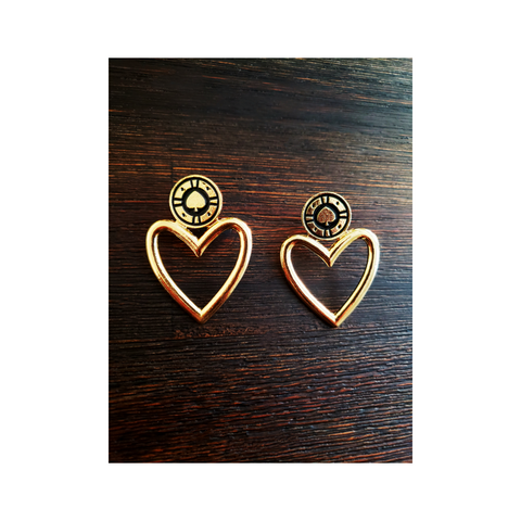 Vintage Heart Earrings