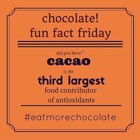 chocolate fun fact of the day dark chocolate and antioxidants