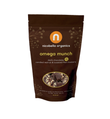 Organic Dark Chocolate Omega Munch 2-oz bag (choose between one bag or a case of 12)