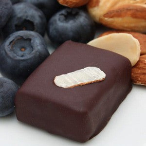 nicobella organic fair trade dark chocolate blueberry almond truffle