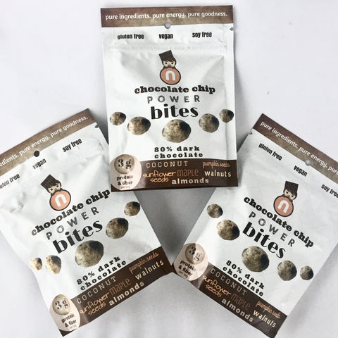 POWER bites, Chocolate Chip, 3-Pack, each bag 2 oz