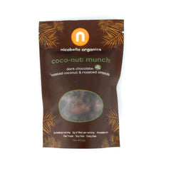 Organic Dark Chocolate Coconut Munch-Case of 12 (2 oz each)
