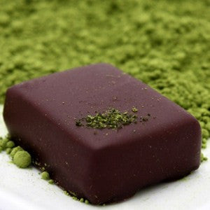 nicobella organic fair trade chocolate ginger green tea truffles