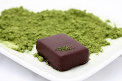 nicobella organic fair trade dark chocolate ginger green tea truffle
