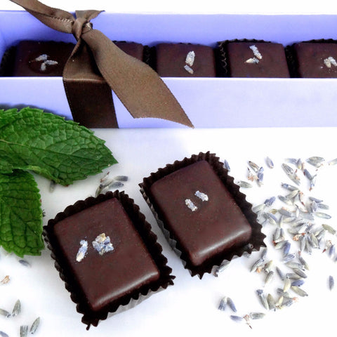 Lavender Mint Truffles 6-piece box, 2.2 oz