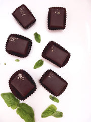 nicobella organic fair trade dark chocolate lime basil truffle