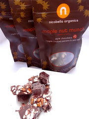 Organic Dark Chocolate Maple Nut Munch 2-oz bag (choose between one bag or a case of 12)
