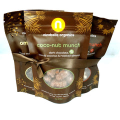 nicobella organic fair trade dark chocolate covered munch