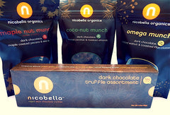 nicobella organic fair trade dark chocolate truffles and munch