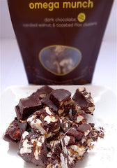 nicobella organics fair trade dark chocolate walnut flaxseed omega munch