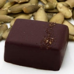 nicobella organic fair trade dark chocolate pumpkin chai truffle