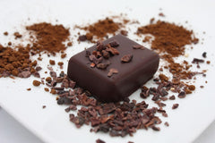 nicobella organics fair trade dark chocolate pure cocoa bliss truffles