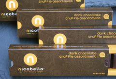 nicobella organics fair trade dark chocolate truffles