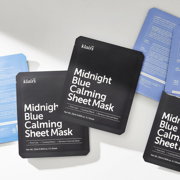 Midnight Blue Calming Sheet Mask - Discover more Korean cosmetics at Cupidrop