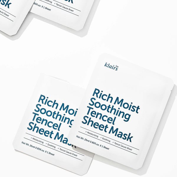 Rich Moist Soothing Tencel Sheet Mask - Discover more Korean cosmetics at Cupidrop
