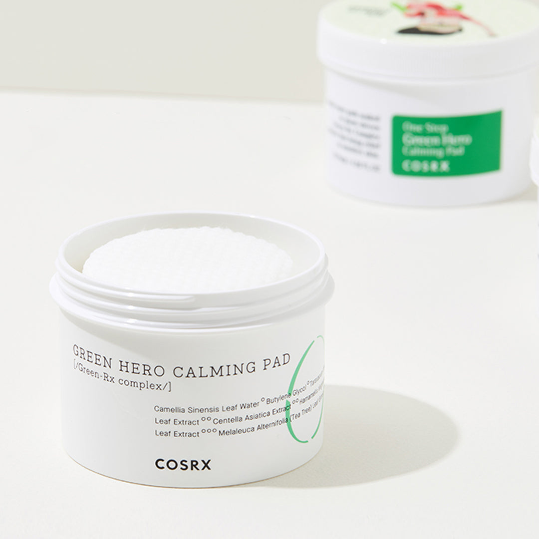 One-Step Green Hero Calming Pad - Discover more Korean cosmetics at Cupidrop