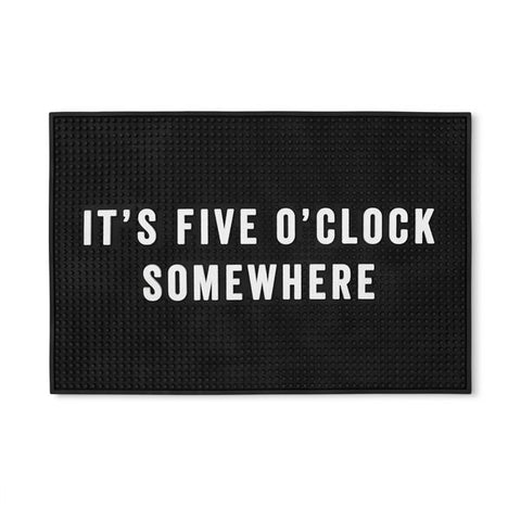 Bar Mat - It's Five O'Clock Somewhere