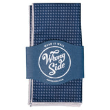 Wrong Side Pocket Square - Navy Dot