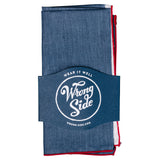 Wrong Side Pocket Square - Indigo