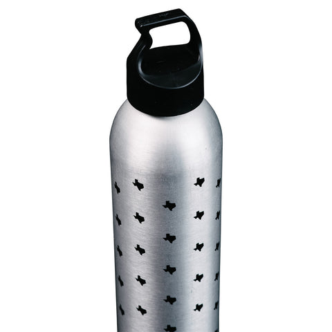 Aluminum Texas State Print Water Bottle
