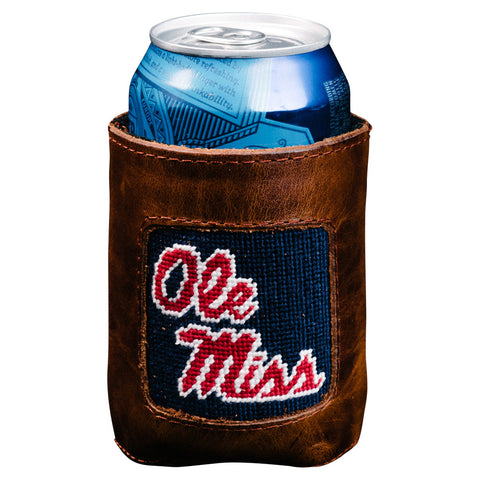 Ole Miss Needlepoint Can Cooler