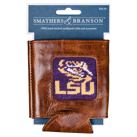 LSU Needlepoint Can Cooler