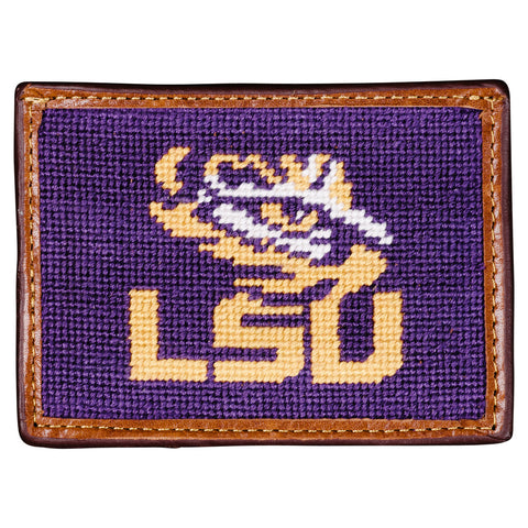 LSU Needlepoint Card Wallet