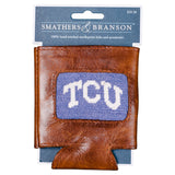 Smathers & Branson TCU Needlepoint Can Cooler