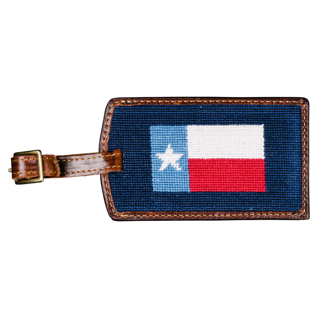 Smathers & Branson Texas Flag Needlepoint Luggage Tag