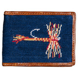Smathers & Branson Trout and Fly Needlepoint Bi-Fold Wallet