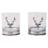 English Pewter Double Stag Tumbler