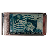 Vintage Texas Statehood Stamp Money Clip