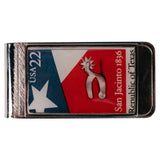Vintage Texas 150th Anniversary Stamp Money Clip