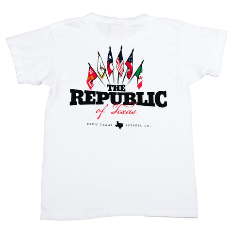 Boys The Republic of Texas Pocket T-Shirt - White