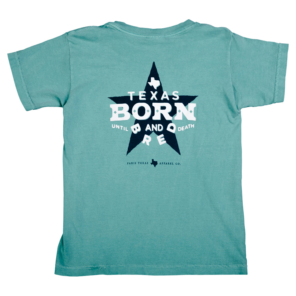 Boys Texas Born & Bred Pocket T-Shirt - Seafoam