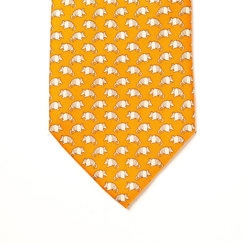 Armadillo Tie - Orange - Extra Long
