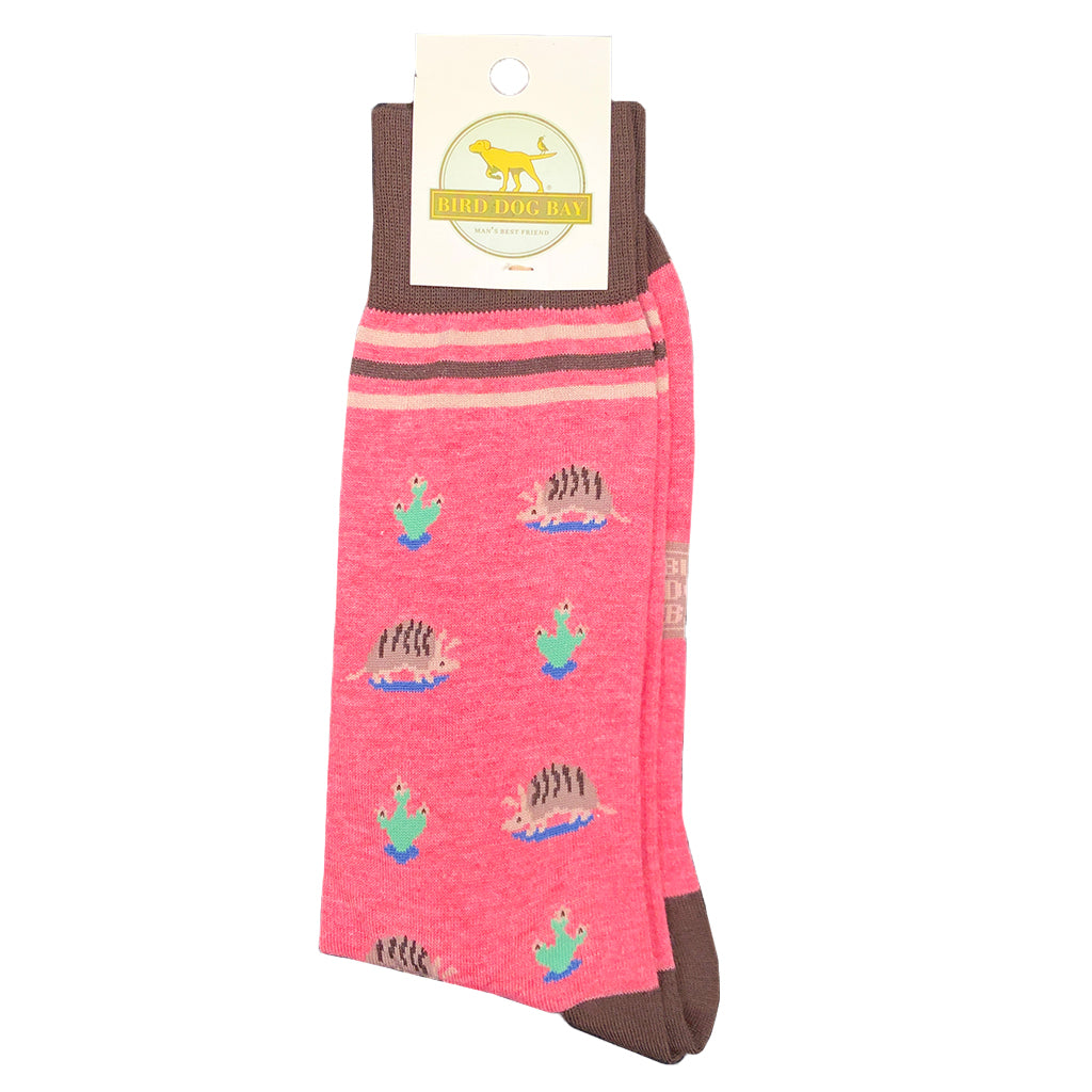 Armadillo Crossing Socks - Pink