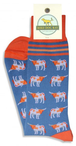 Stars Over Texas Socks - Orange