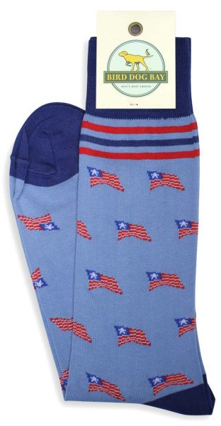 Bird Dog Bay Old Glory Socks - Blue