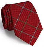 Hermann Plaid Tie - Red