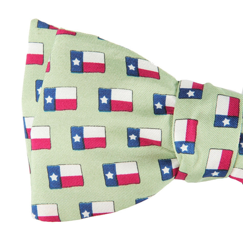 Lone Star Flag Bow Tie - Green